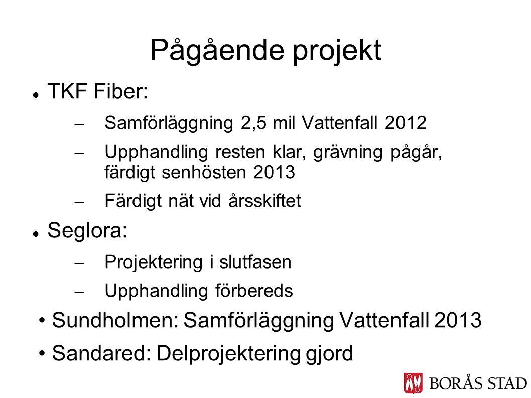 Pågående projekt TKF Fiber: Seglora:
