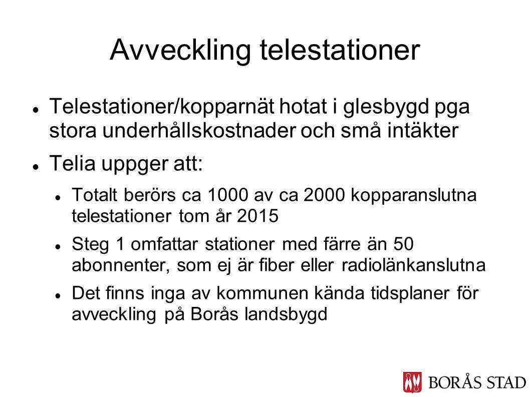 Avveckling telestationer
