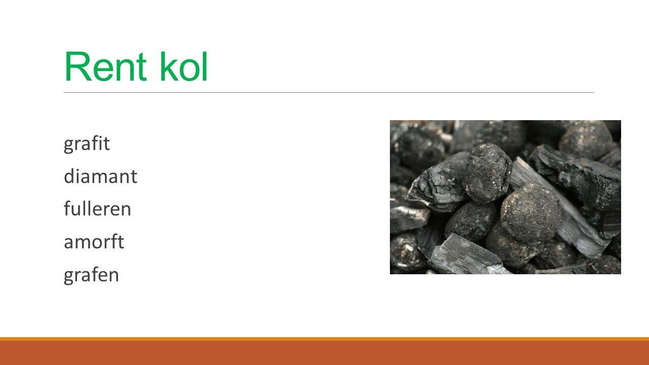 Rent kol grafit diamant fulleren amorft grafen