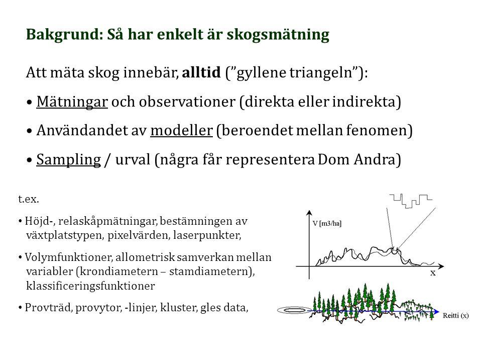 Bakgrund: Så har enkelt är skogsmätning