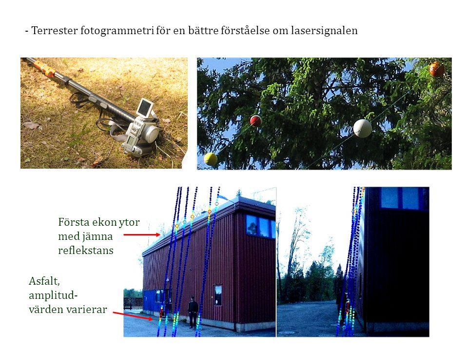 Terrester fotogrammetri för en bättre förståelse om lasersignalen