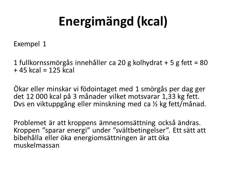 Energimängd (kcal)