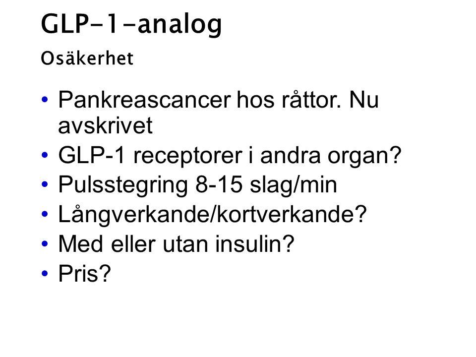 GLP-1-analog Pankreascancer hos råttor. Nu avskrivet