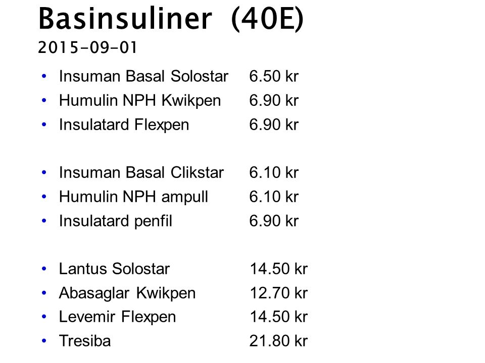 Basinsuliner (40E) 2015-09-01 Insuman Basal Solostar 6.50 kr