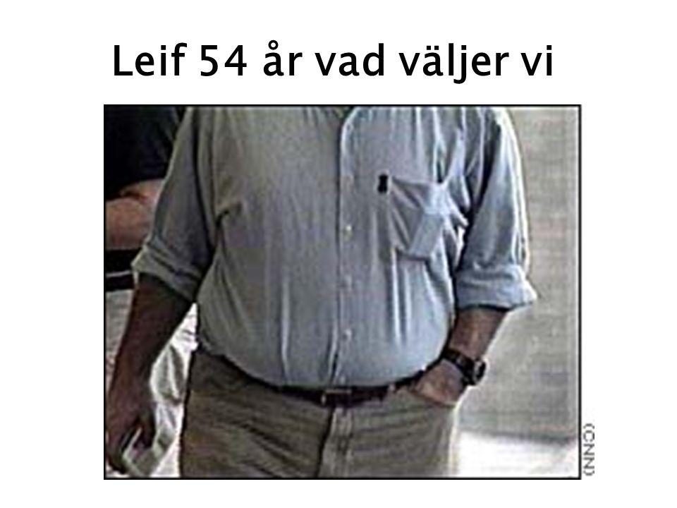 Leif 54 år vad väljer vi 74