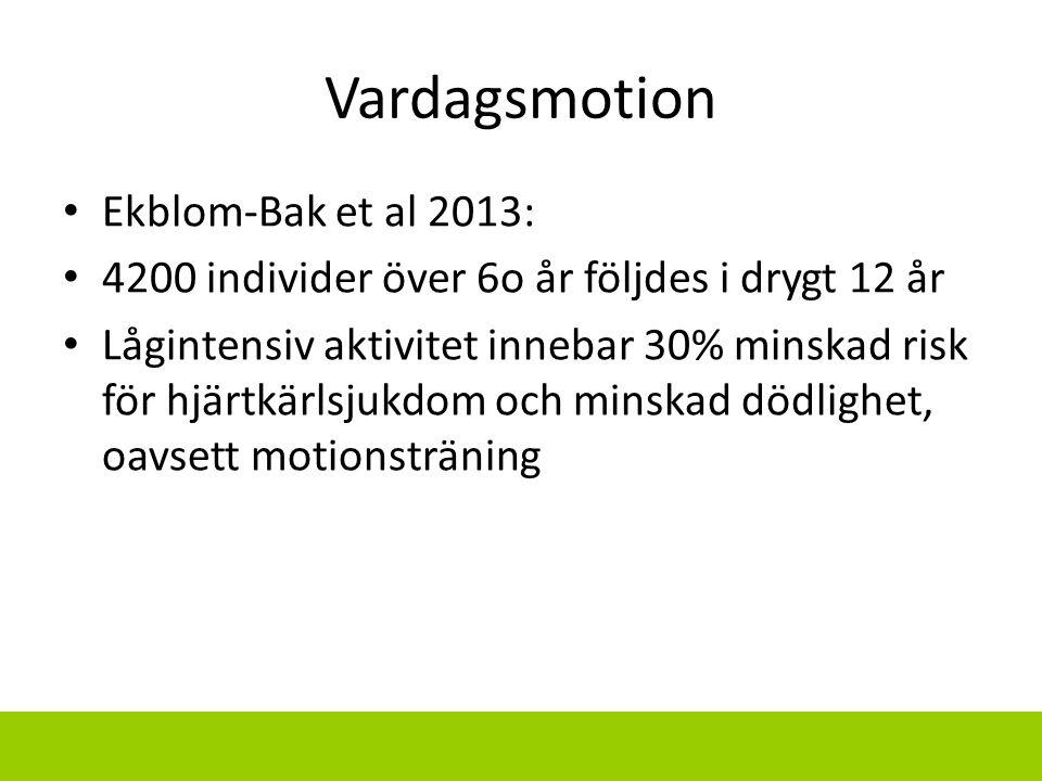 Vardagsmotion Ekblom-Bak et al 2013: