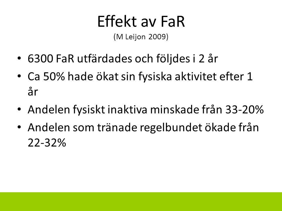 Effekt av FaR (M Leijon 2009)