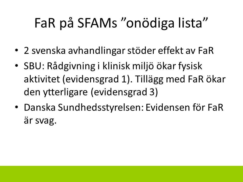 FaR på SFAMs onödiga lista