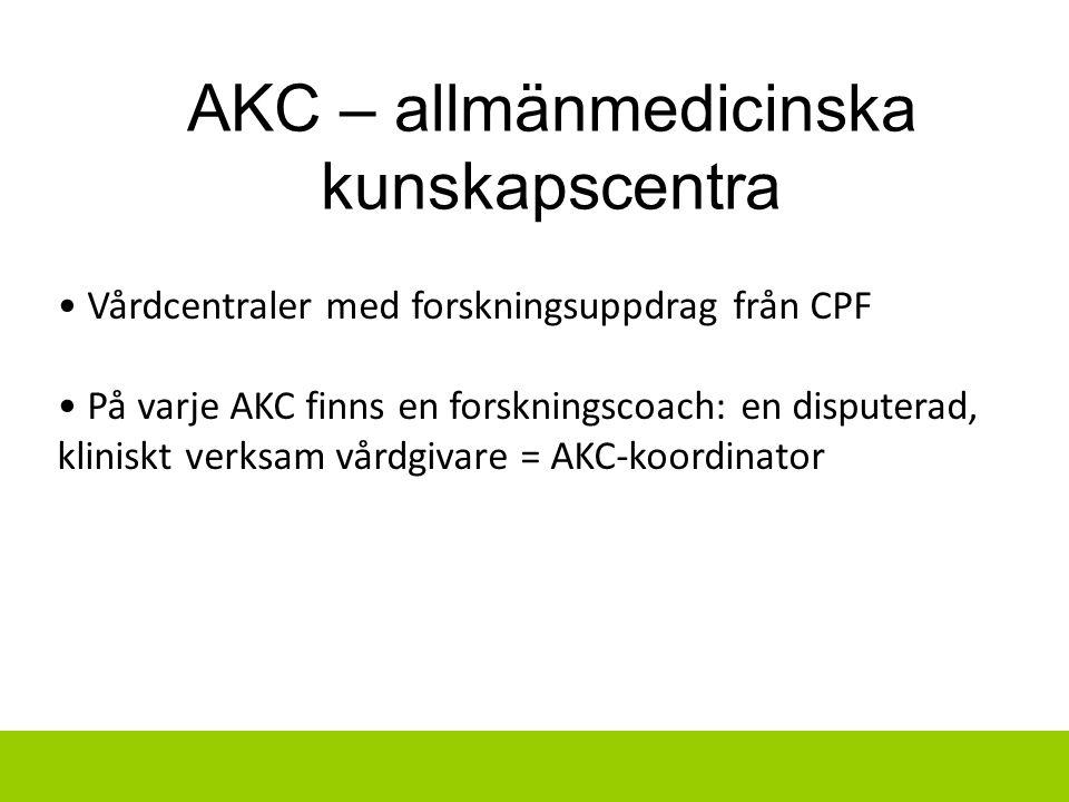 AKC – allmänmedicinska kunskapscentra