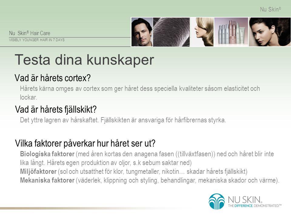 Testa dina kunskaper Vad är hårets cortex Vad är hårets fjällskikt