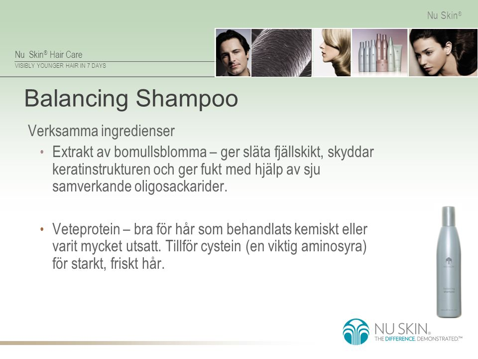 Balancing Shampoo Verksamma ingredienser
