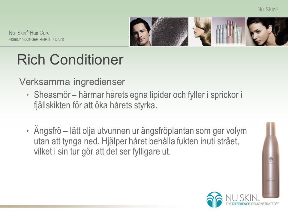 Rich Conditioner Verksamma ingredienser