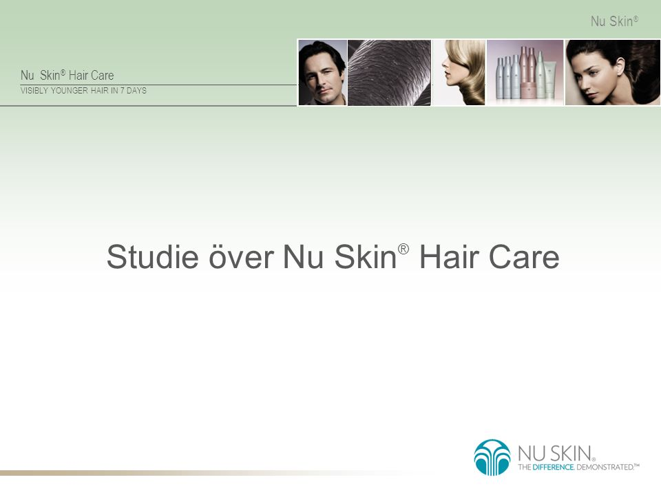 Studie över Nu Skin® Hair Care