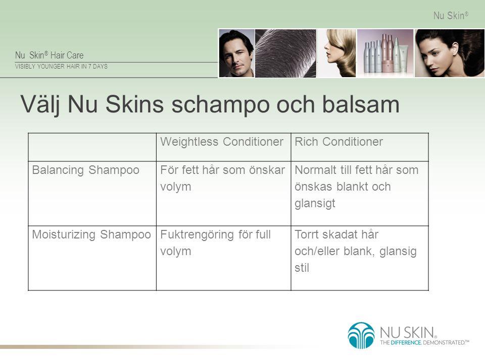 Välj Nu Skins schampo och balsam