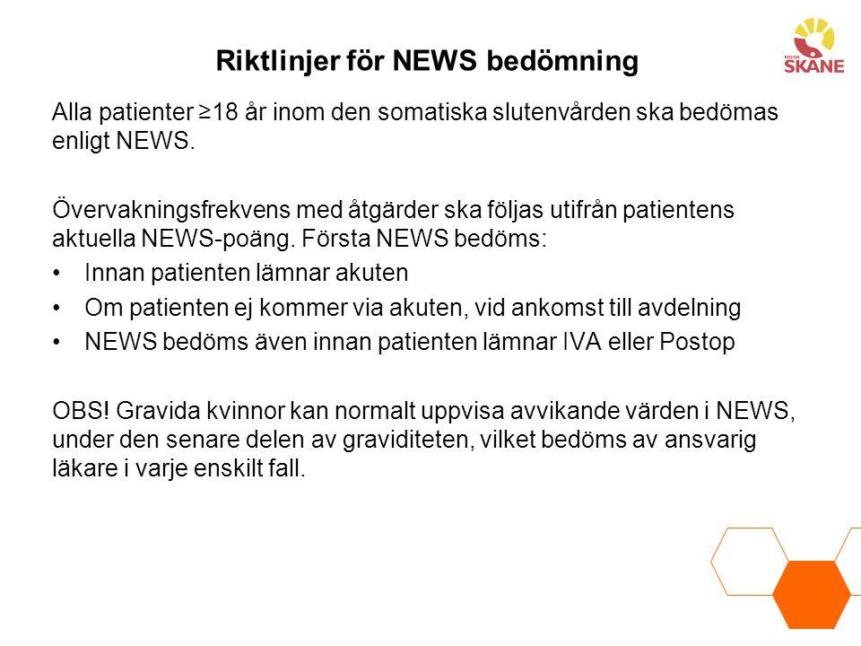 Riktlinjer för NEWS bedömning