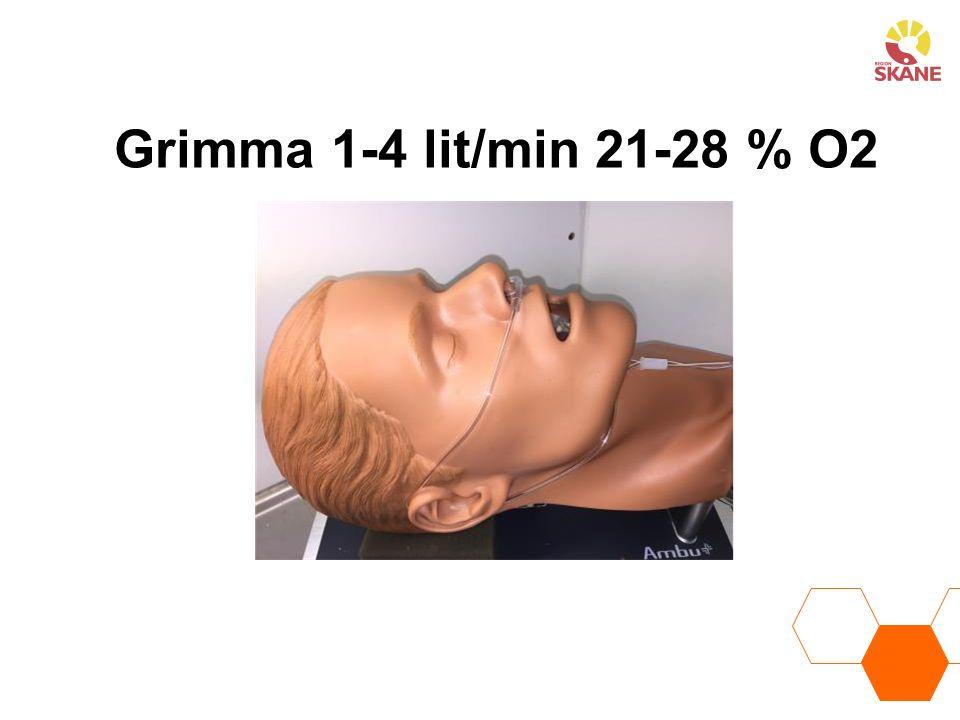 Grimma 1-4 lit/min 21-28 % O2