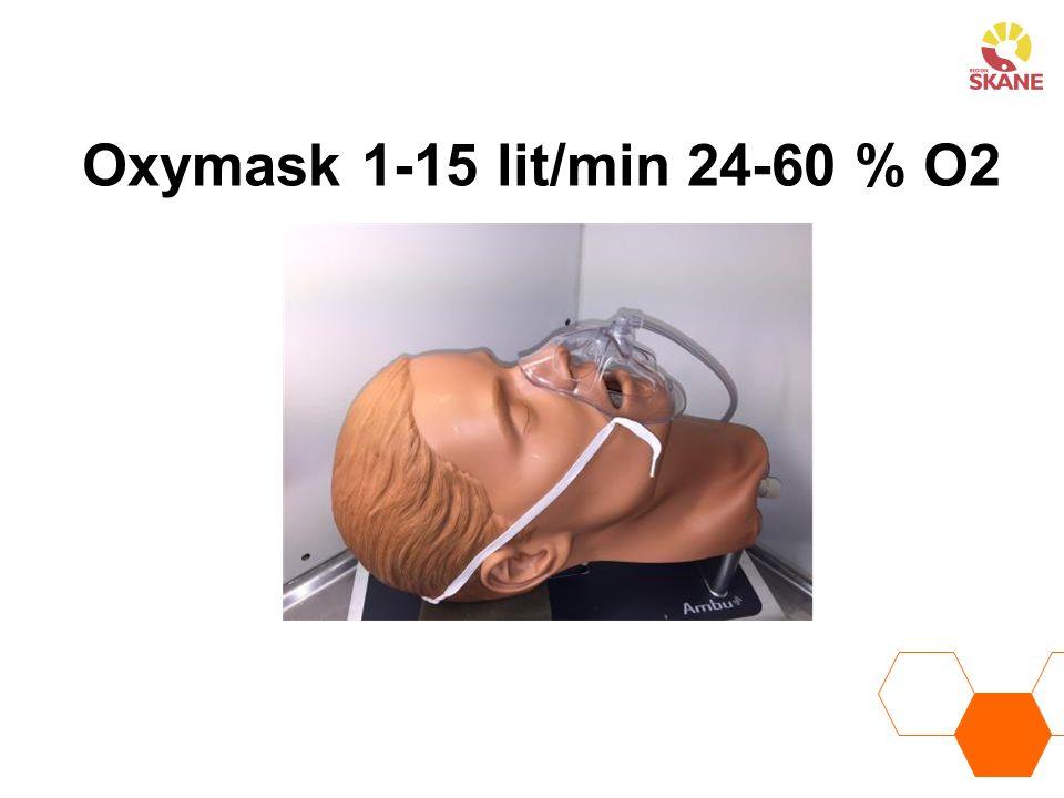 Oxymask 1-15 lit/min 24-60 % O2