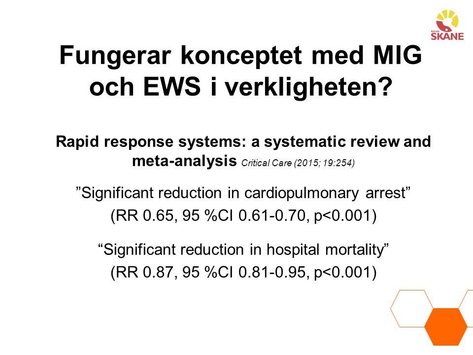 Fungerar konceptet med MIG och EWS i verkligheten