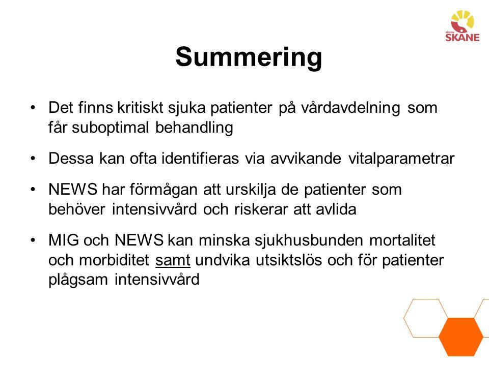 Summering Det finns kritiskt sjuka patienter på vårdavdelning som får suboptimal behandling.