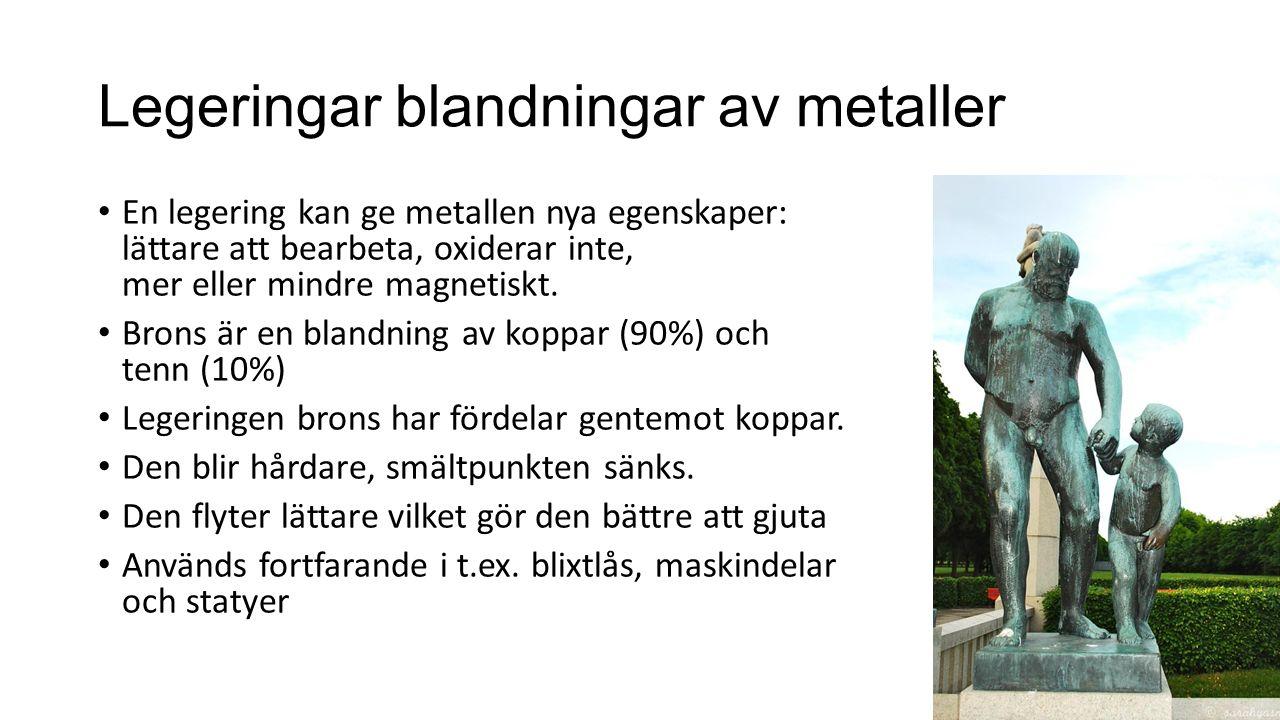 Legeringar blandningar av metaller