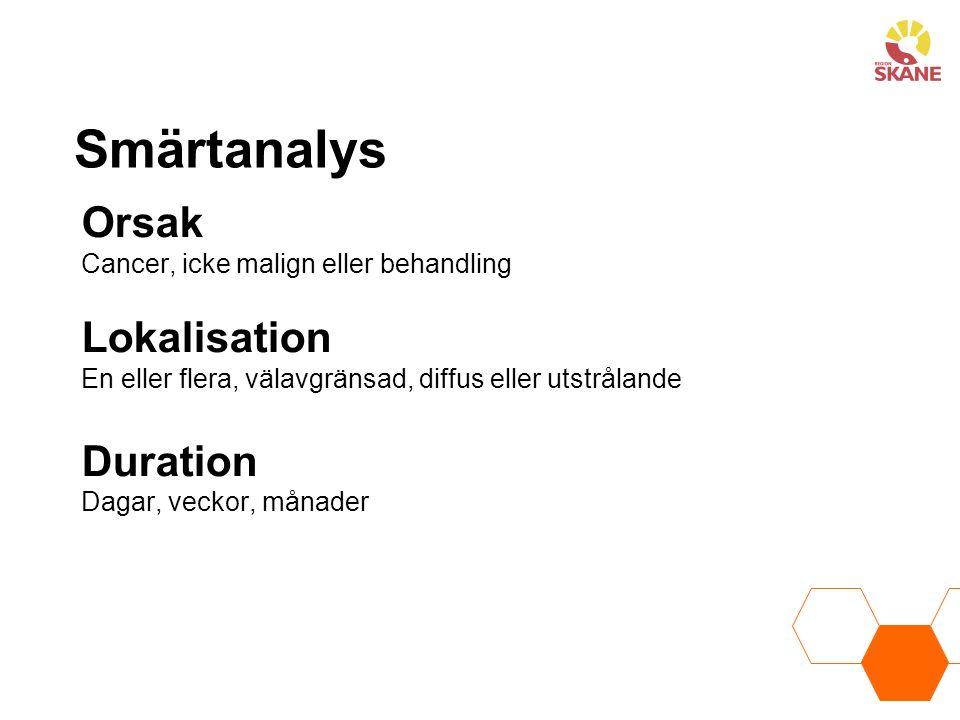 Smärtanalys Orsak Lokalisation Duration