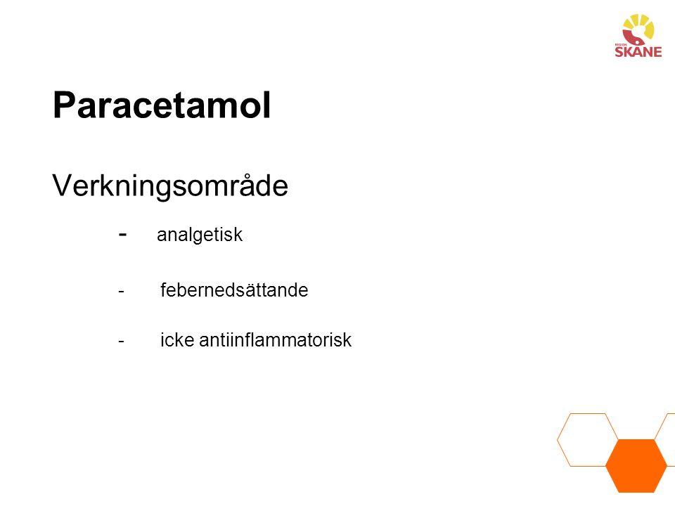 Paracetamol Verkningsområde