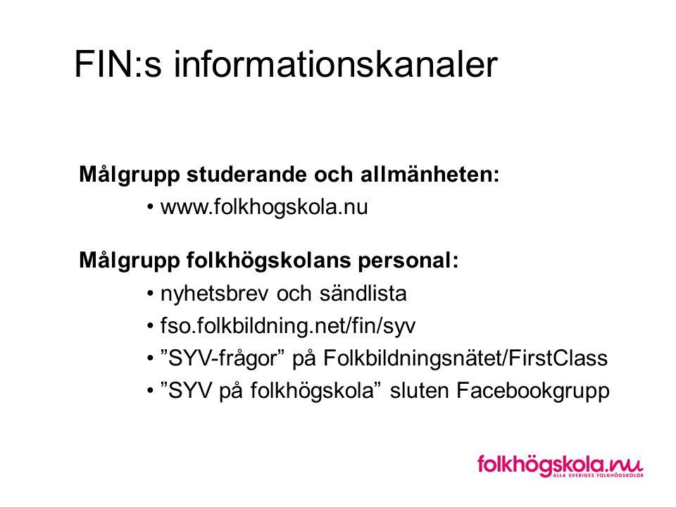 FIN:s informationskanaler