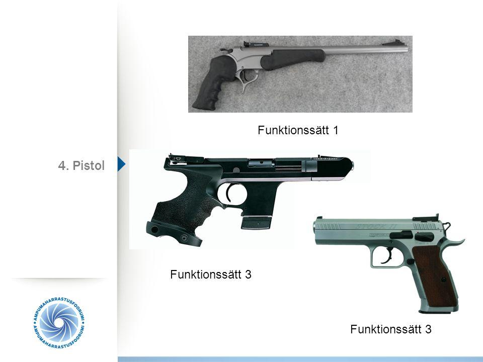 Funktionssätt 1 4. Pistol Funktionssätt 3 Funktionssätt 3