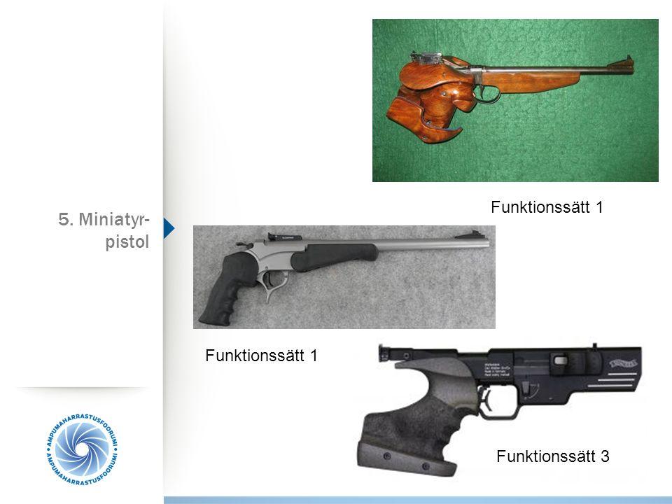Funktionssätt 1 5. Miniatyr-pistol Funktionssätt 1 Funktionssätt 3