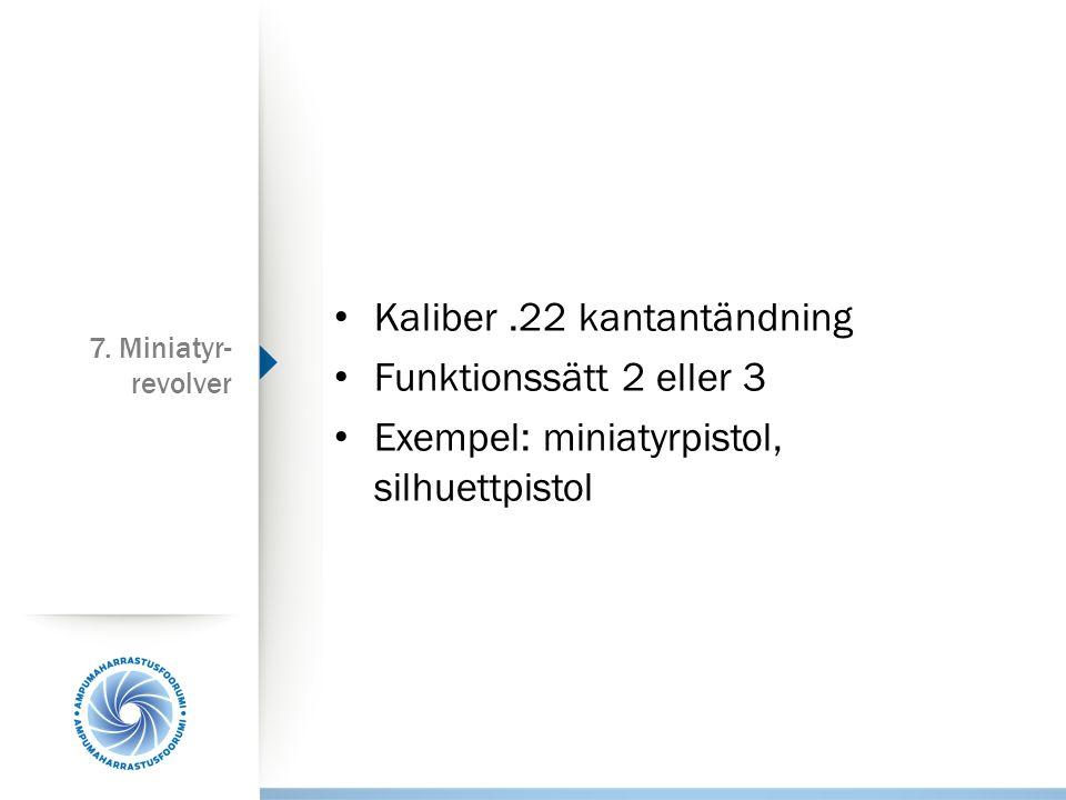 Kaliber .22 kantantändning Funktionssätt 2 eller 3