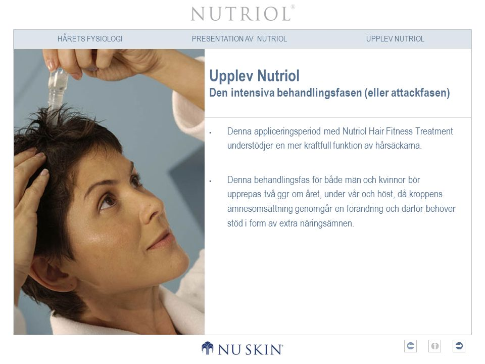 Upplev Nutriol Den intensiva behandlingsfasen (eller attackfasen)