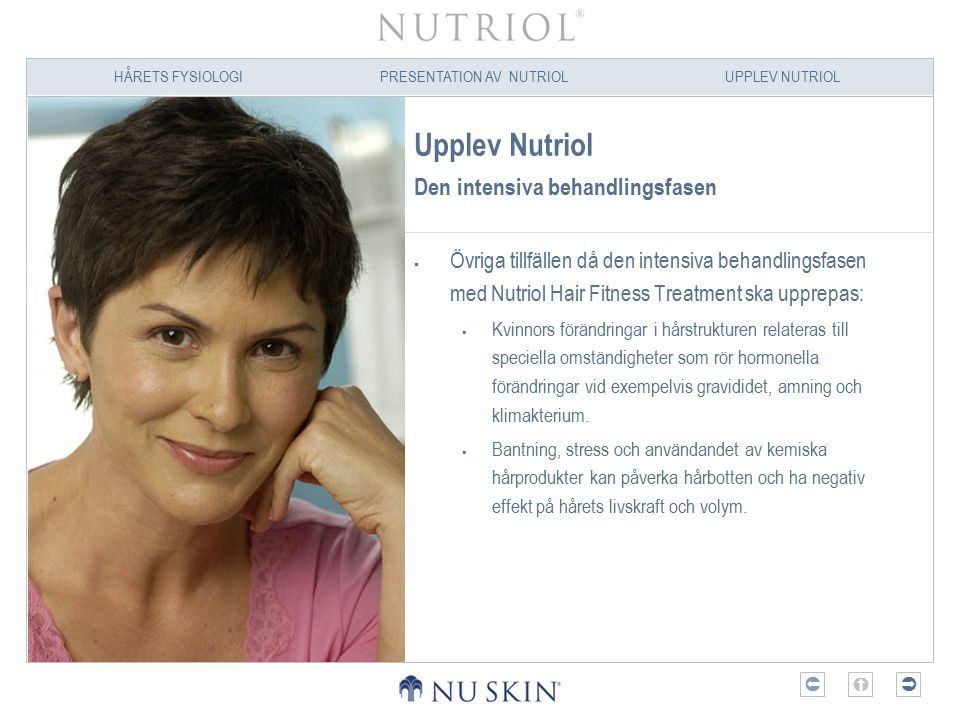 Upplev Nutriol Den intensiva behandlingsfasen