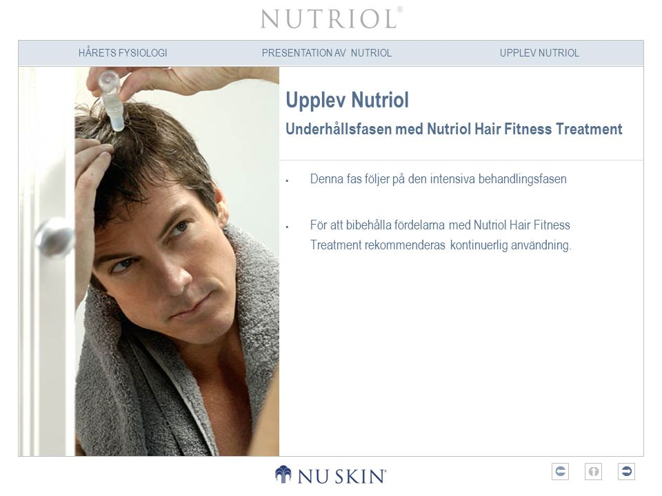 Upplev Nutriol Underhållsfasen med Nutriol Hair Fitness Treatment