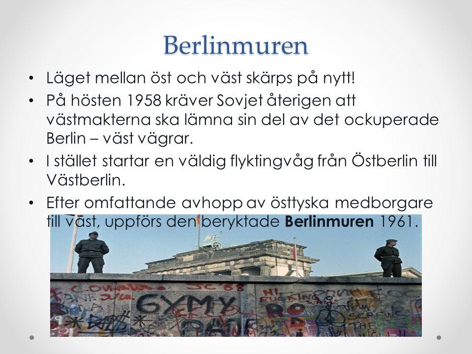Berlinmuren Läget mellan öst och väst skärps på nytt!
