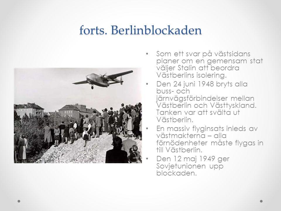 forts. Berlinblockaden