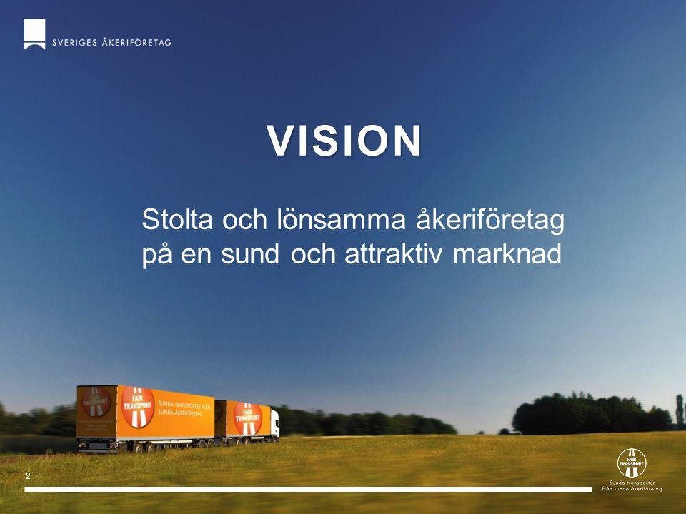 vision Stolta och lönsamma åkeriföretag på en sund och attraktiv marknad 2