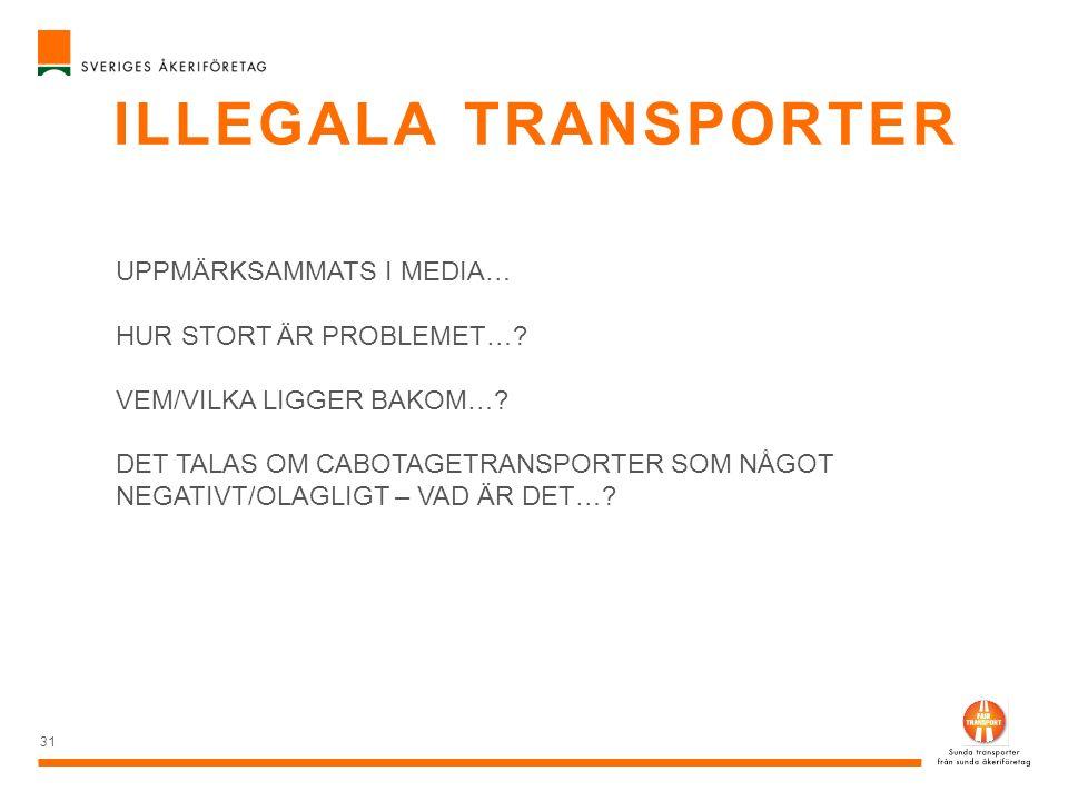 Illegala transporter UPPMÄRKSAMMATS I MEDIA… HUR STORT ÄR PROBLEMET…