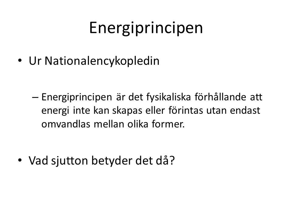 Energiprincipen Ur Nationalencykopledin Vad sjutton betyder det då