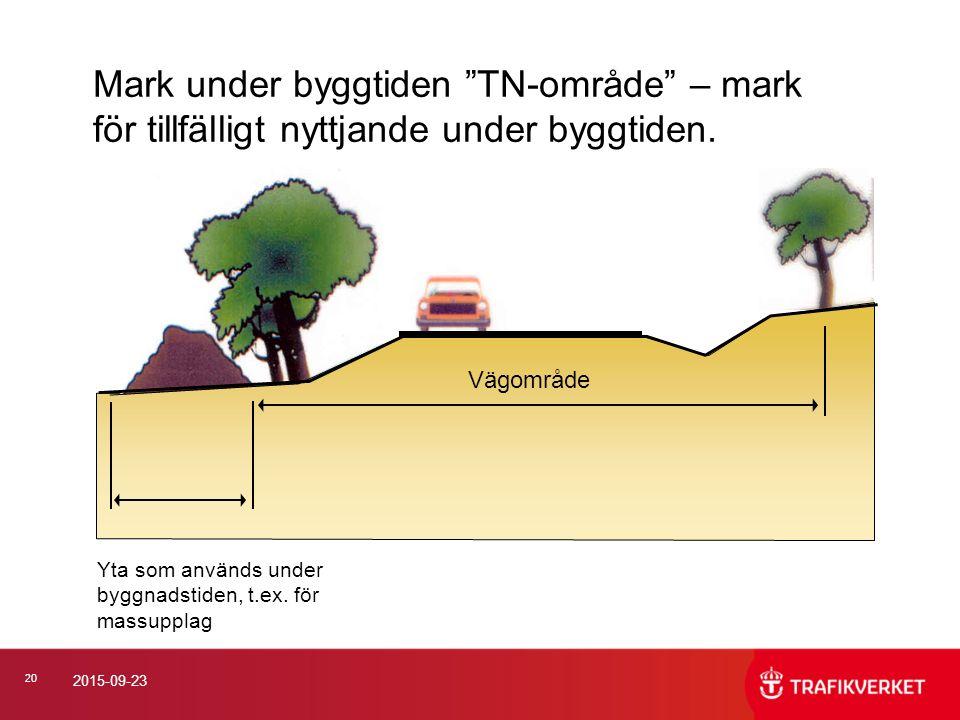 2017-04-24 Mark under byggtiden TN-område – mark för tillfälligt nyttjande under byggtiden. Vägområde.