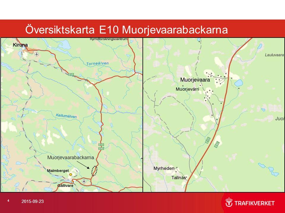 Översiktskarta E10 Muorjevaarabackarna