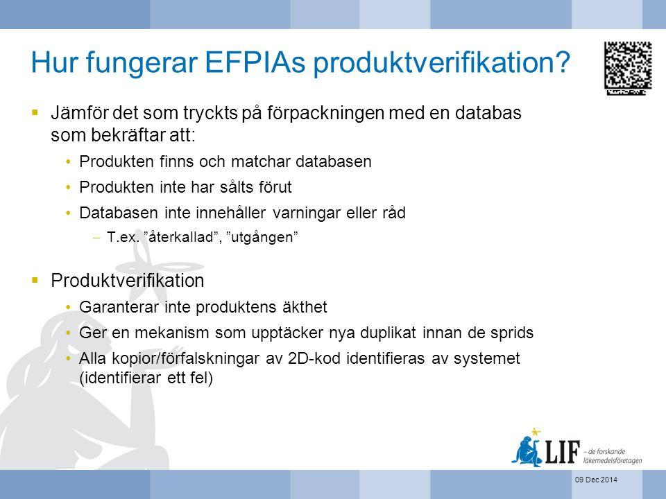 Hur fungerar EFPIAs produktverifikation