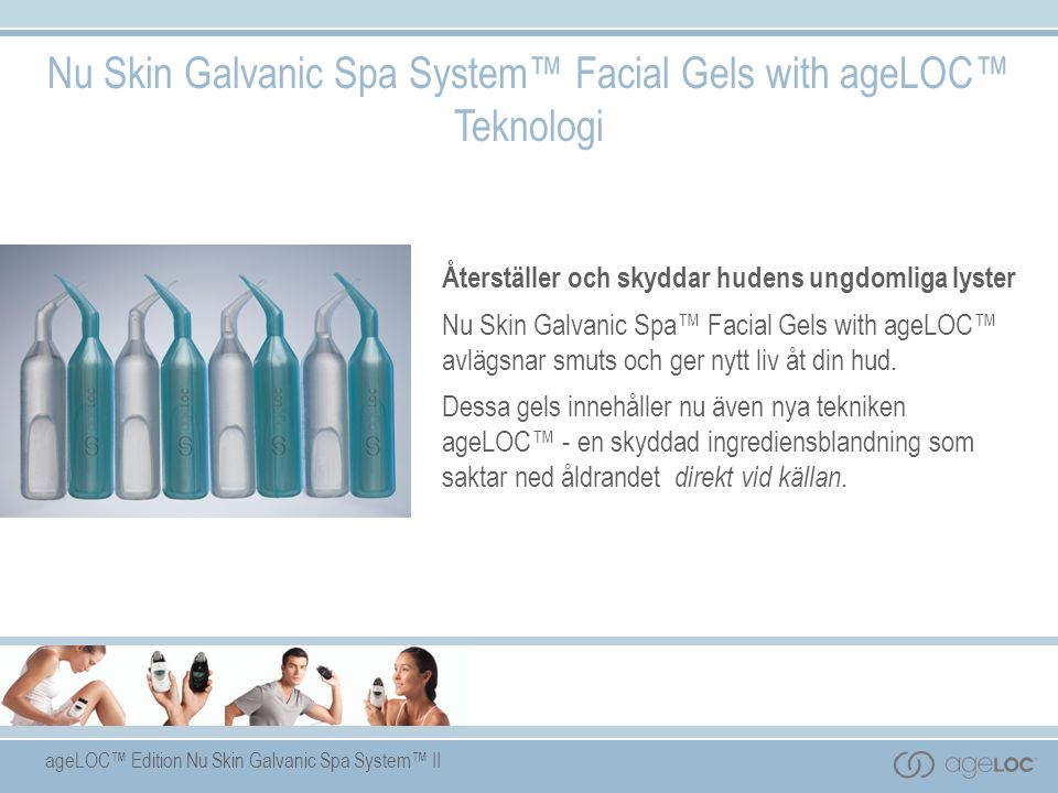 Nu Skin Galvanic Spa System™ Facial Gels with ageLOC™ Teknologi