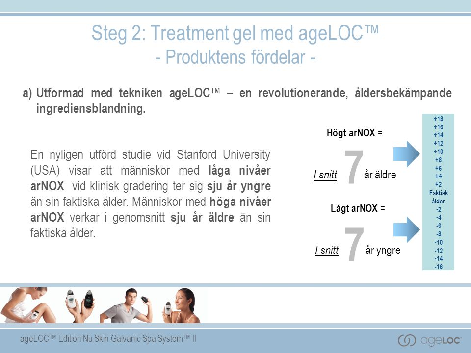7 Steg 2: Treatment gel med ageLOC™ - Produktens fördelar -