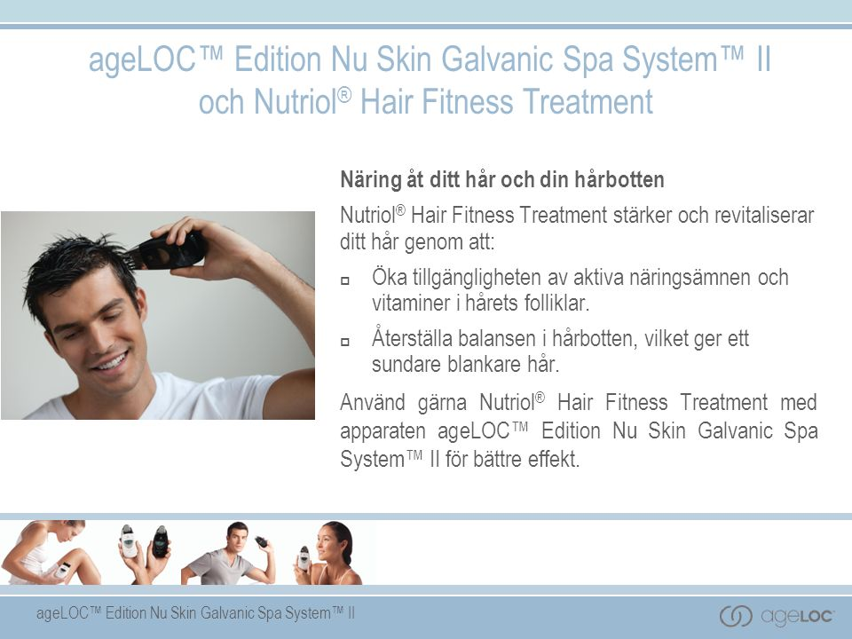 ageLOC™ Edition Nu Skin Galvanic Spa System™ II och Nutriol® Hair Fitness Treatment