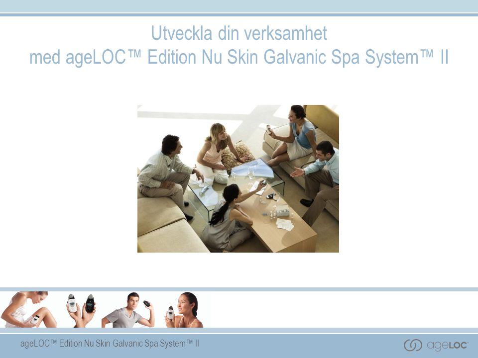 Utveckla din verksamhet med ageLOC™ Edition Nu Skin Galvanic Spa System™ II