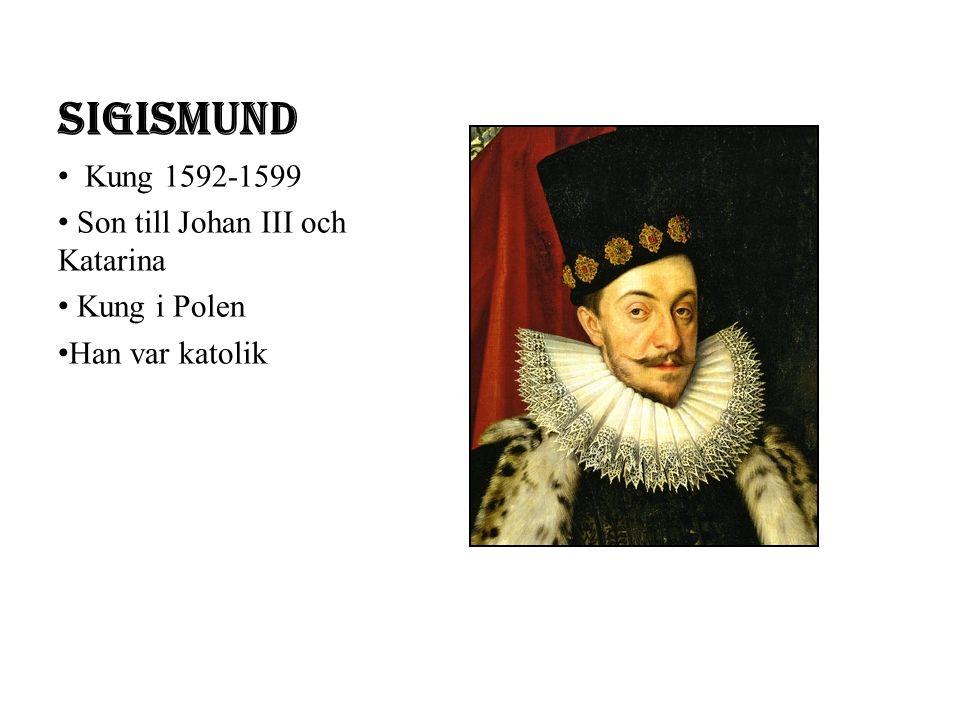 Sigismund Kung 1592-1599 Son till Johan III och Katarina Kung i Polen