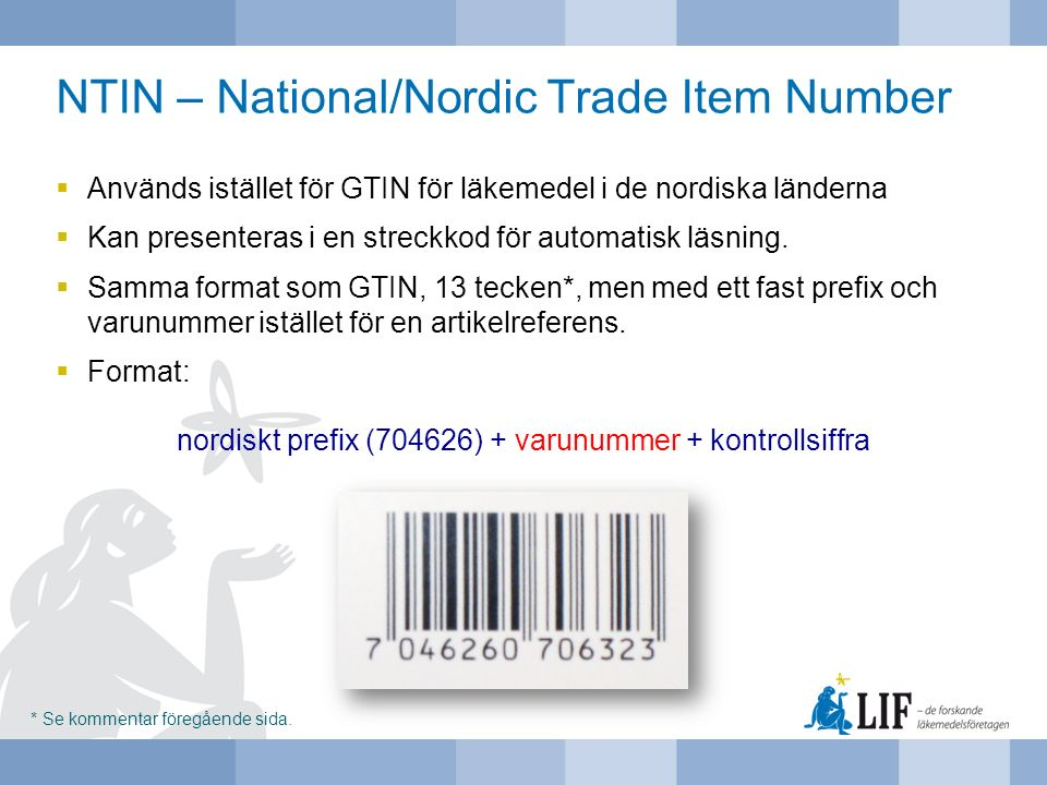 NTIN – National/Nordic Trade Item Number