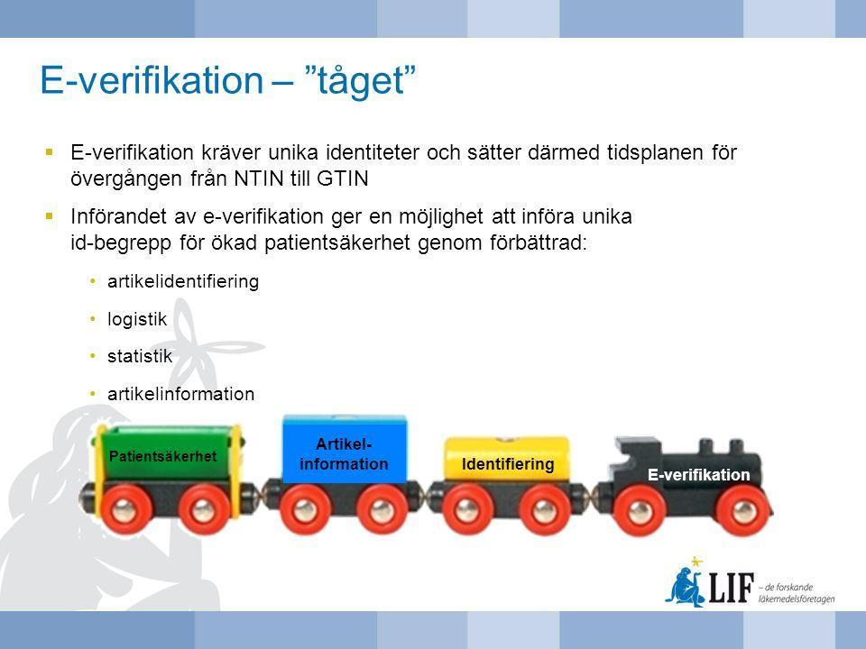 E-verifikation – tåget