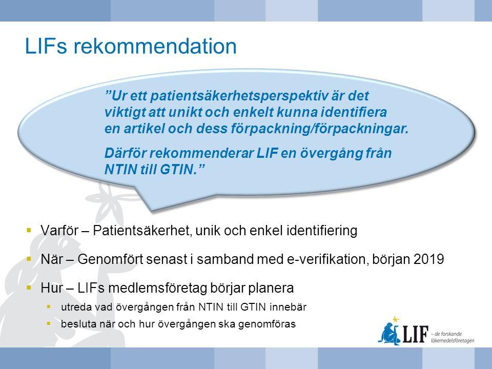 LIFs rekommendation