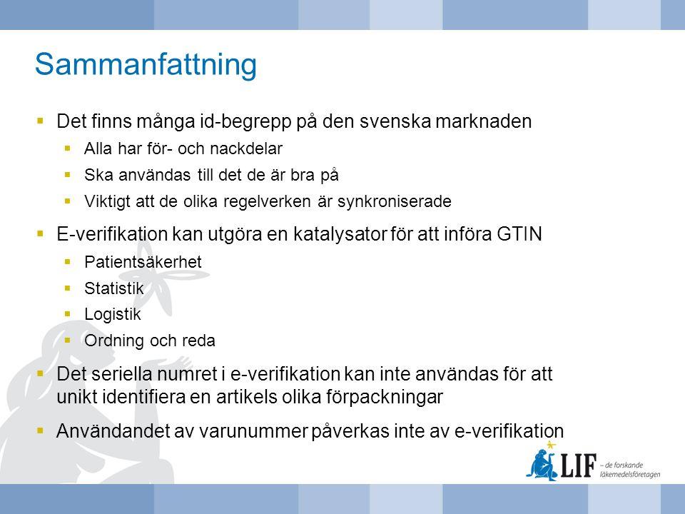 Sammanfattning Det finns många id-begrepp på den svenska marknaden